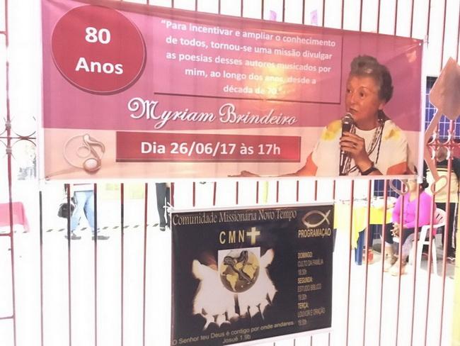 Primeiro álbum da belíssima comemoração do 80º. Aniversário de Myriam Brindeiro, ontem dia 26 de junho de 2017, no Clube das Pás.