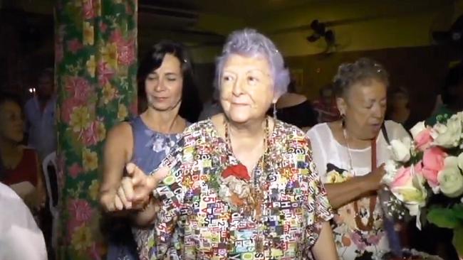 Myriam Brindeiro no dia em que completava seus 80 anos de vida. Recife, 26 de junho de 2017.