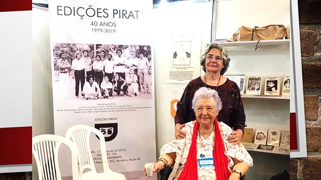 Presença de Myriam Brindeiro na XII Bienal Internacional do Livro de Pernambuco. Com Eugênia Menezes